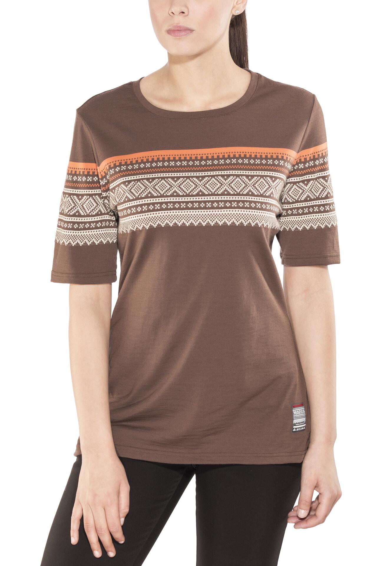 Aclima DesignWool Marius Merino T Shirt Damen fondue fudge
